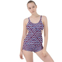 Abstract Chaos Confusion Boyleg Tankini Set