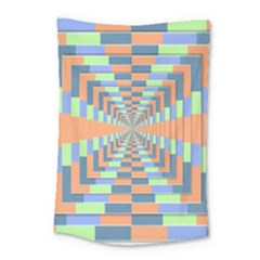 Fabric 3d Color Blocking Depth Small Tapestry