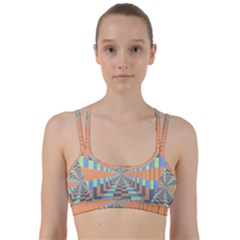 Fabric 3d Color Blocking Depth Line Them Up Sports Bra