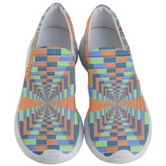 Fabric 3d Color Blocking Depth Women s Lightweight Slip Ons