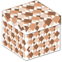 Fabric Texture Geometric Storage Stool 12   by Nexatart