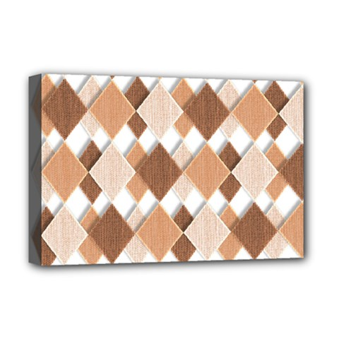 Fabric Texture Geometric Deluxe Canvas 18  X 12