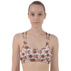 Fabric Texture Geometric Line Them Up Sports Bra by Nexatart