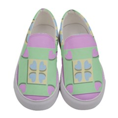 Hearts 3d Decoration Design Love Women s Canvas Slip Ons