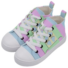 Hearts 3d Decoration Design Love Kid s Mid Top Canvas Sneakers by Nexatart