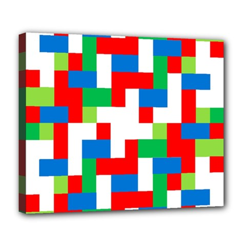 Geometric Maze Chaos Dynamic Deluxe Canvas 24  X 20