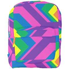 Geometric Rainbow Spectrum Colors Full Print Backpack by Nexatart