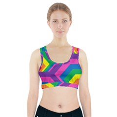 Geometric Rainbow Spectrum Colors Sports Bra With Pocket by Nexatart