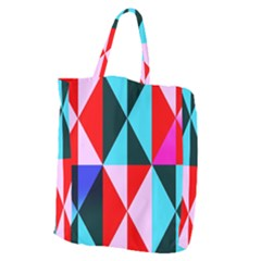 Geometric Pattern Design Angles Giant Grocery Zipper Tote