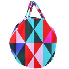 Geometric Pattern Design Angles Giant Round Zipper Tote