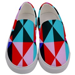 Geometric Pattern Design Angles Men s Canvas Slip Ons