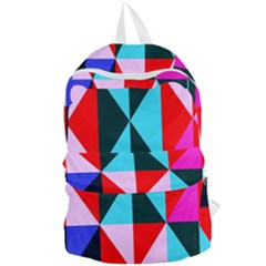 Geometric Pattern Design Angles Foldable Lightweight Backpack by Nexatart