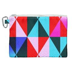 Geometric Pattern Design Angles Canvas Cosmetic Bag (xl) by Nexatart