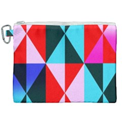 Geometric Pattern Design Angles Canvas Cosmetic Bag (xxl) by Nexatart