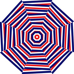 Red White Blue Patriotic Ribbons Straight Umbrellas