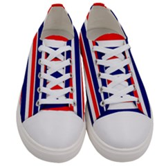 Red White Blue Patriotic Ribbons Women s Low Top Canvas Sneakers