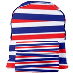 Red White Blue Patriotic Ribbons Giant Full Print Backpack