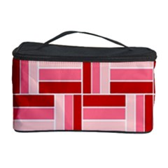 Pink Red Burgundy Pattern Stripes Cosmetic Storage Case