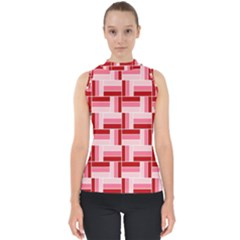 Pink Red Burgundy Pattern Stripes Shell Top