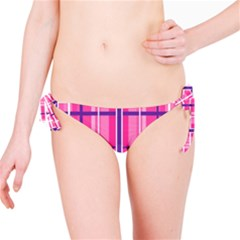 Gingham Hot Pink Navy White Bikini Bottom