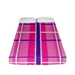 Gingham Hot Pink Navy White Fitted Sheet (full/ Double Size)