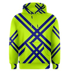 Stripes Angular Diagonal Lime Green Men s Pullover Hoodie