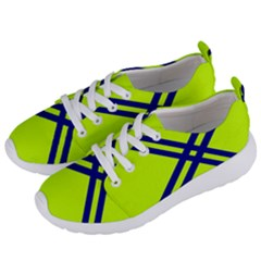 Stripes Angular Diagonal Lime Green Women s Lightweight Sports Shoes by Nexatart