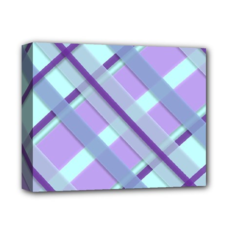 Diagonal Plaid Gingham Stripes Deluxe Canvas 14  X 11