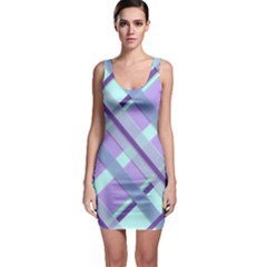 Diagonal Plaid Gingham Stripes Bodycon Dress by Nexatart