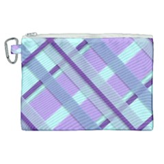 Diagonal Plaid Gingham Stripes Canvas Cosmetic Bag (xl) by Nexatart