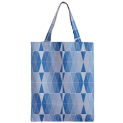 Blue Monochrome Geometric Design Classic Tote Bag by Nexatart