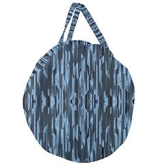 Texture Surface Background Metallic Giant Round Zipper Tote