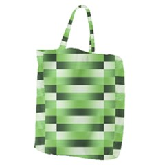Pinstripes Green Shapes Shades Giant Grocery Zipper Tote
