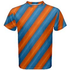 Diagonal Stripes Striped Lines Men s Cotton Tee by Nexatart