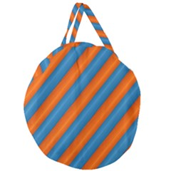 Diagonal Stripes Striped Lines Giant Round Zipper Tote