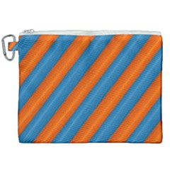Diagonal Stripes Striped Lines Canvas Cosmetic Bag (xxl) by Nexatart