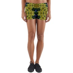 Fantasy Plumeria Decorative Real And Mandala Yoga Shorts