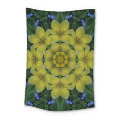Fantasy Plumeria Decorative Real And Mandala Small Tapestry by pepitasart