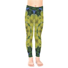 Fantasy Plumeria Decorative Real And Mandala Kids  Legging