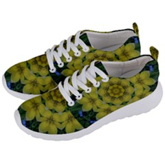 Fantasy Plumeria Decorative Real And Mandala Men s Lightweight Sports Shoes by pepitasart