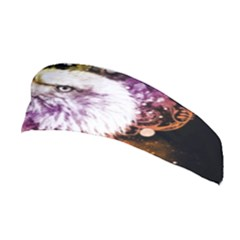 Awesome Eagle With Flowers Stretchable Headband by FantasyWorld7