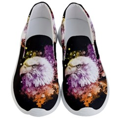 Awesome Eagle With Flowers Men s Lightweight Slip Ons by FantasyWorld7