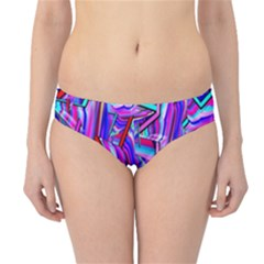 Stars Beveled 3d Abstract Stripes Hipster Bikini Bottoms