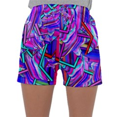 Stars Beveled 3d Abstract Stripes Sleepwear Shorts