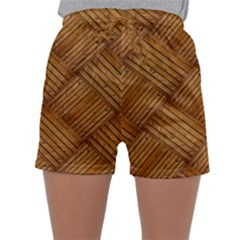 Wood Texture Background Oak Sleepwear Shorts