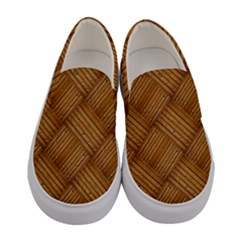 Wood Texture Background Oak Women s Canvas Slip Ons