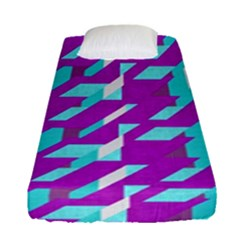 Fabric Textile Texture Purple Aqua Fitted Sheet (single Size) by Nexatart