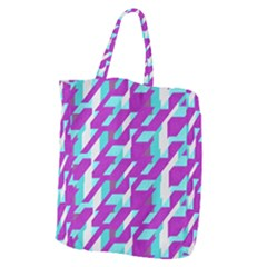 Fabric Textile Texture Purple Aqua Giant Grocery Zipper Tote