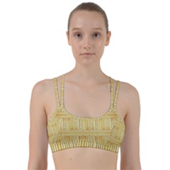 Wood Texture Grain Light Oak Line Them Up Sports Bra