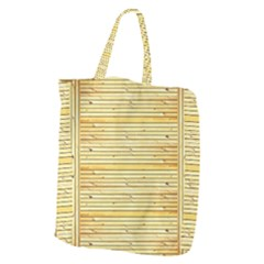 Wood Texture Background Light Giant Grocery Zipper Tote